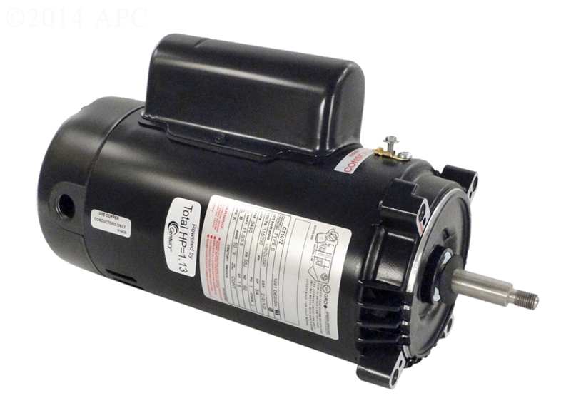Single speed full rated pool pump motors two compartment for High efficiency pool pump motor