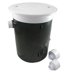Pool Leveler  White Lid And Collar