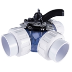 25923-159-000 | HydroSeal™ Clear PVC Diverter Valve 3 Way
