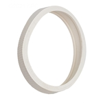 LLC1 | Wheel Rubber Tire Ribbed - White