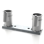 PC-4008-AC | 4 Inch Pool Ladder Anchor Sockets on Bar