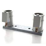PC-4008-P | 4 Inch Pool Ladder Anchor Sockets on Bar