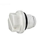 1/4In Plug Abs White