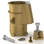 PS-4019-BC | 4 Inch Hanover Clone Pool Anchor Socket Bronze