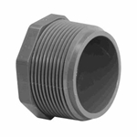 .25In Mpt Plug Schedule 80 Gray