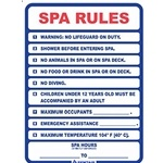 R230300 | Spa Rules Sign