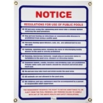 R230800 | Public Pool Use Notice Sign