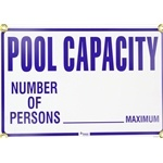 R230900 | Pool Capacity Sign