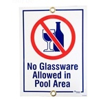 No Glassware Sign