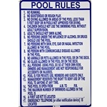 R234100 | North Carolina Pool Rules Sign