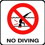 V621500 | No Diving Sticker 6 x 6 Decal