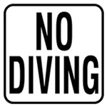 V621501 | No Diving Sticker 6 x 6 Decal